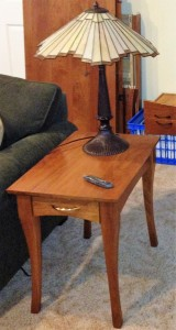 Curved leg Cherry End Table