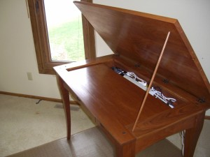 Cherry Writing Desk - Open